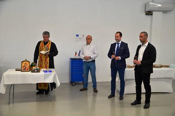 Церемония по освещаване на новия завод